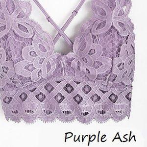 Anemone BOHO Purp Ash Floral Anemone Lace Bralette